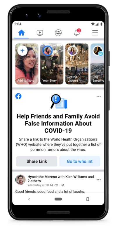 Facebook Will Start Notifying Users Of Fake COVID-19 News