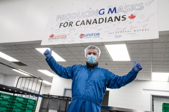 GM Oshawa plant to make 10M masks for Government of Canada