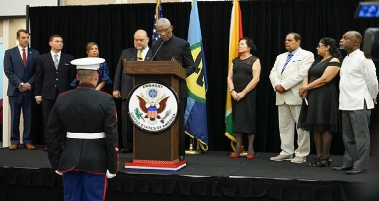 Guyana President Granger reaffirms strong ties with USA