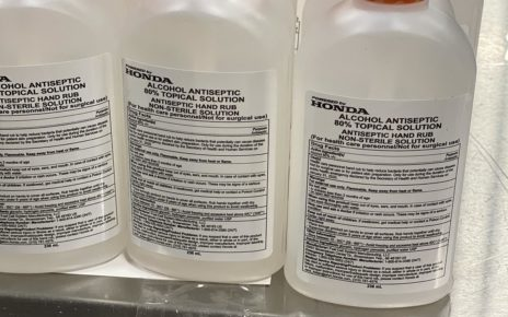 Honda partners with GM, produces 12,000 gallons of hand sanitizer