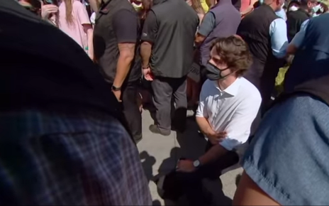 Prime Minister Trudeau takes a knee in support of black lives