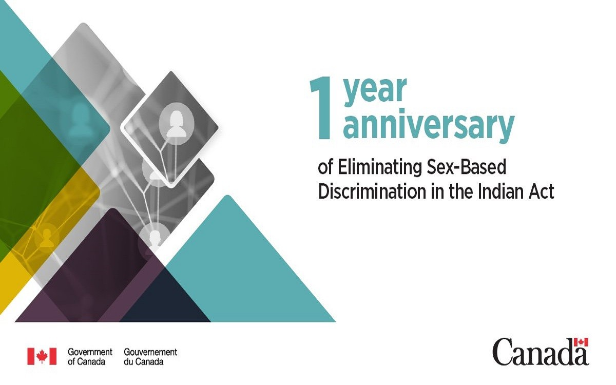 1st Anniversary of the Elimination of Sex-based Inequities in the Indian Act