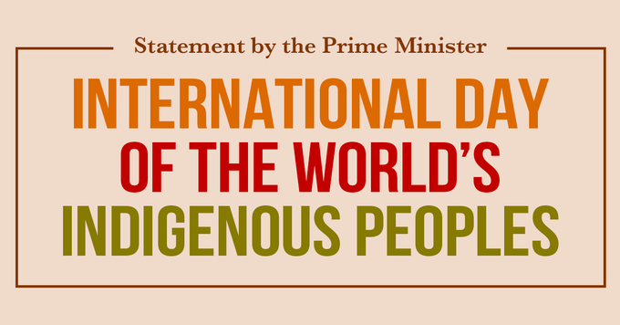 Canada celebrates International Day of the World's Indigenous Peoples