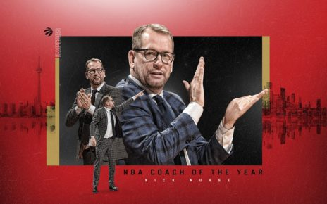 Toronto Raptors Nick Nurse Named Coach of the Year