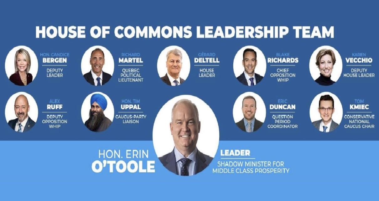 O'Toole excludes Scheer and his top lieutenant Poilievre from his Leadership Team