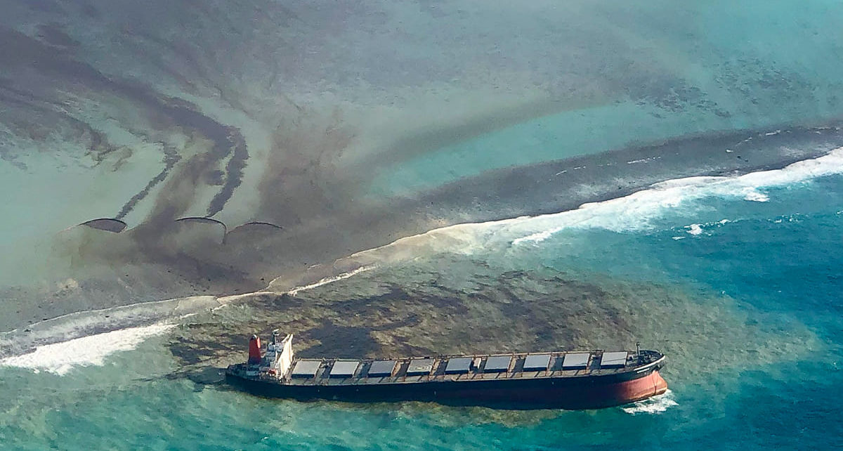 Worst oil ever recorded in Mauritius water, over 1 million litres dumped into Indian Ocean