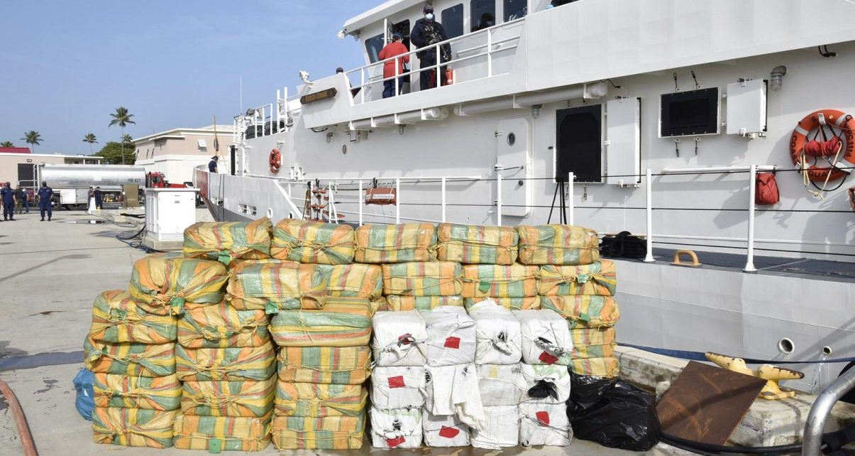 Royal Navy seize £160 million worth of drugs in the Caribbean