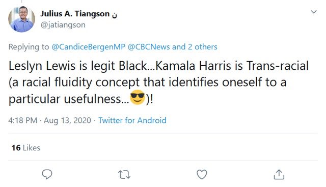 York Centre Conservative Candidate Tiangson offers no apology for racist Tweet