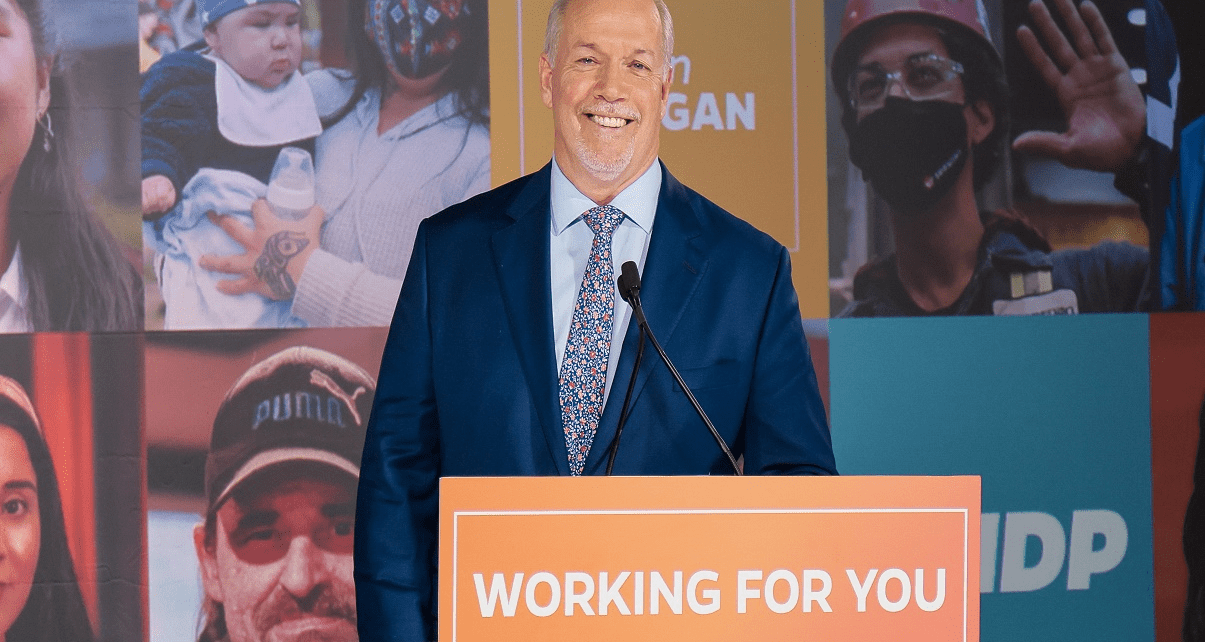 Horgan Rides Orange Wave to Majority Government