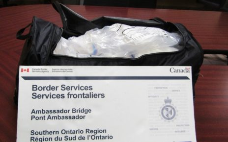 RCMP & CBSA seize 21 kilograms of Meth on Ambassador Bridge