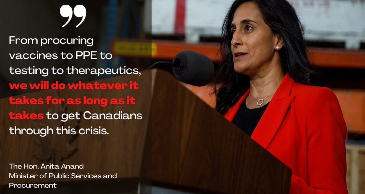 Anita Anand, Canada's Unsung Hero In The Fight Against COVID-19