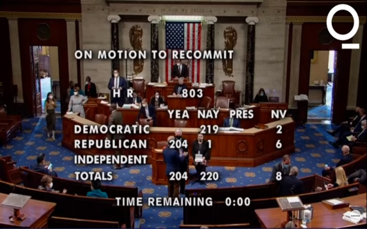 U.S Congress Passes 1.9 Trillion Recovery Package