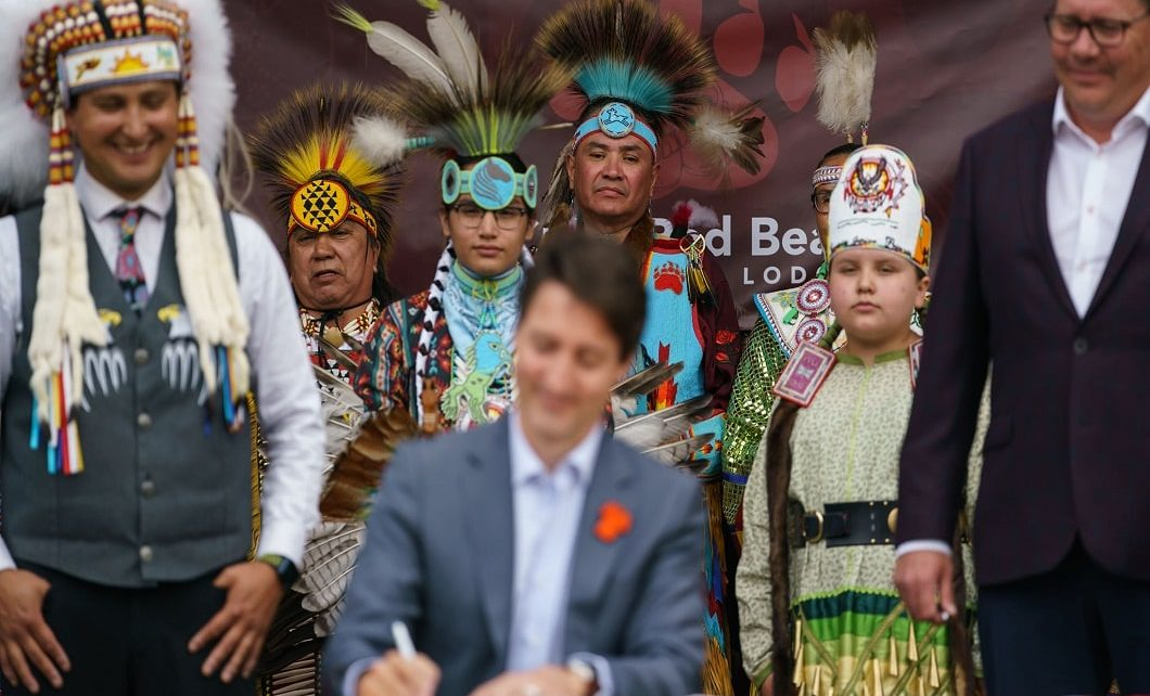 Prime Minister Trudeau visits Cowessess First Nation to Sign Historic Child Welfare Law