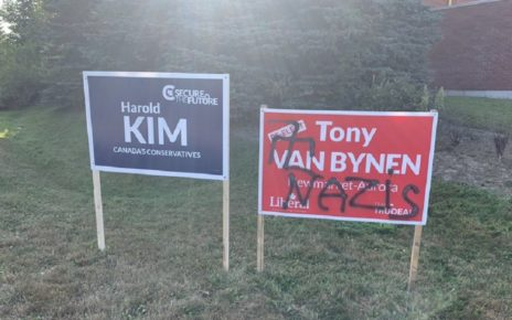 Liberal Candidates Wake Up To Nazi Symbols On Campaign Signs